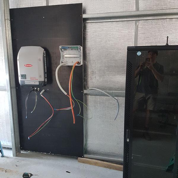 solar power client installation
